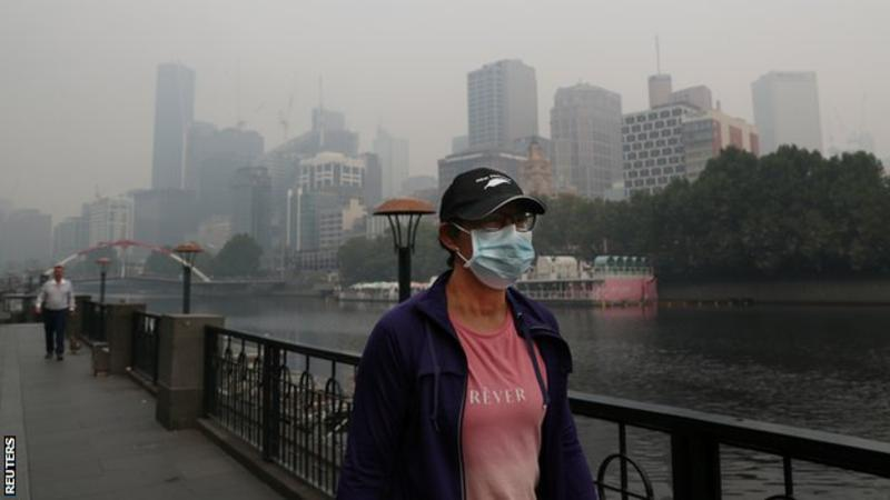 Australia fires: Dalila Jakupovic 'scared I would collapse' because of 'unhealthy' air quality